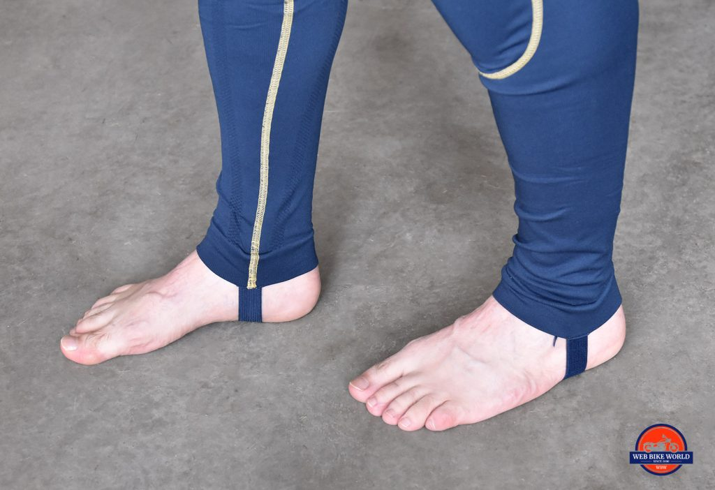 Forcefield Sport Suit X-V legs straps.