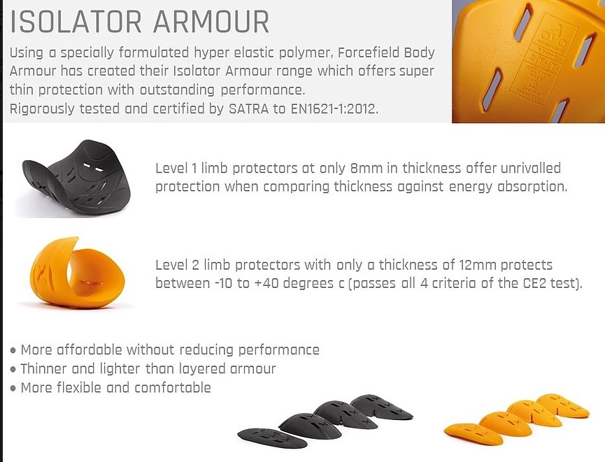 Forcefield Armour description and photos of level 1 and 2.