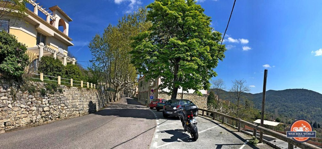 A windy road in France with a Ducati Multistrada 1260S.