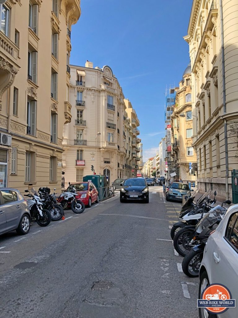 A street in Nice, France.