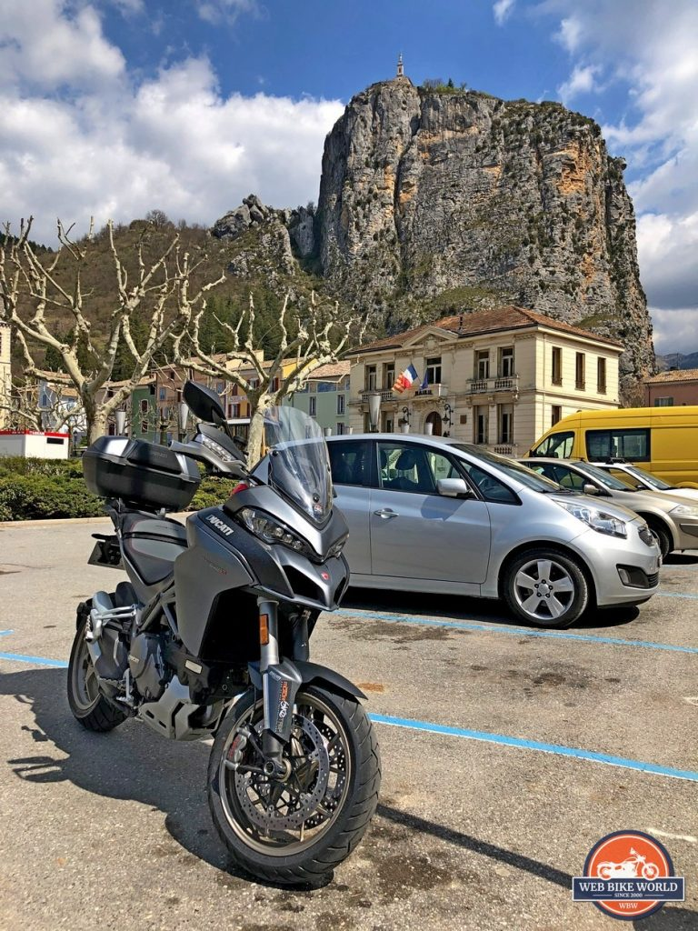 A Ducati Multistrada 1260S in Castellane, France.