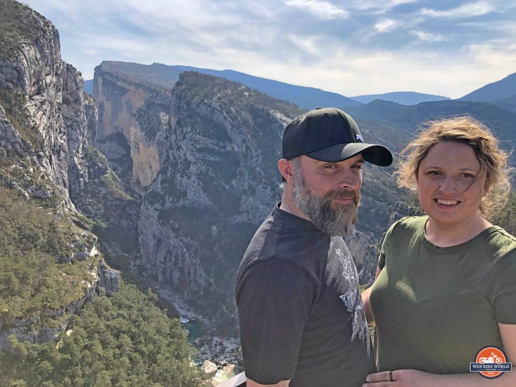 Me and my wife at the Gorges de Verdon, France.