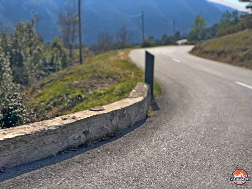 A windy road in southern France.