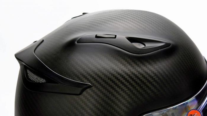 Top air vents on the Klim K1R helmet