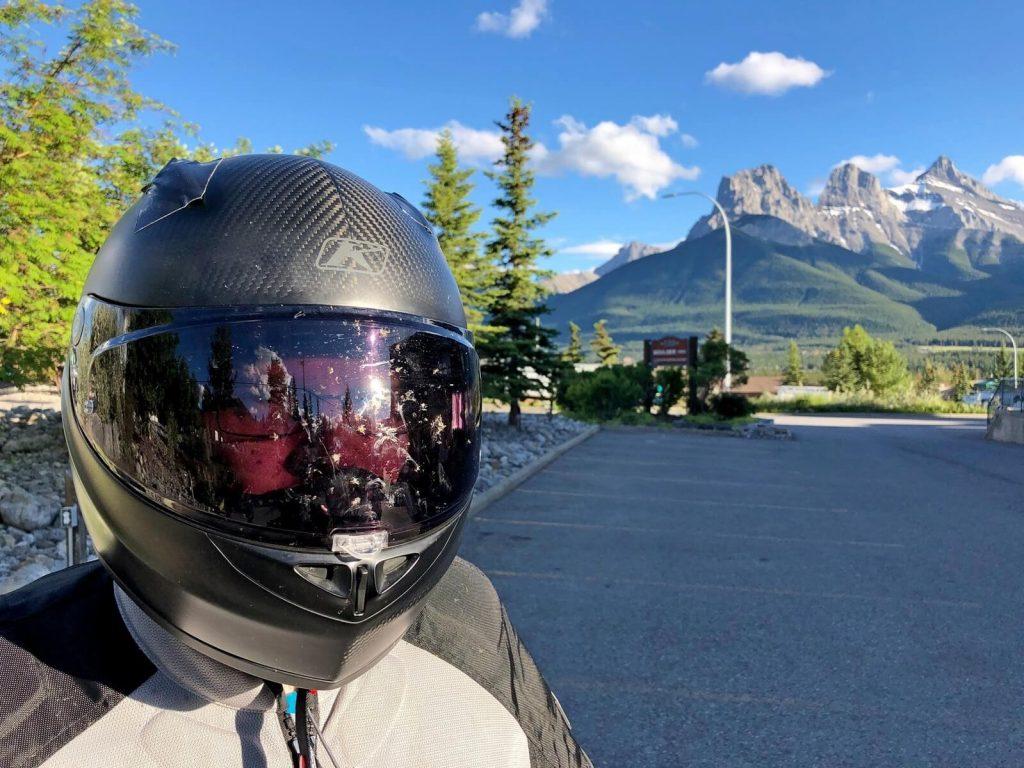 Klim K1R helmet in Canmore, Alberta.