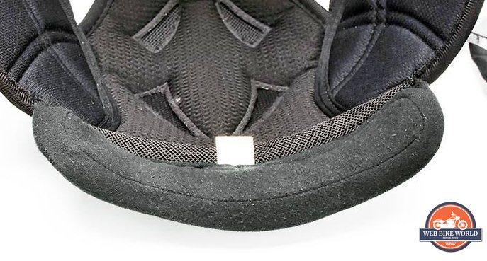 Klim K1R helmet liner showing knit balls forming or pilling.