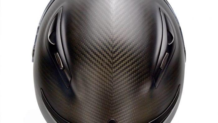 The Klim K1R helmet top view.
