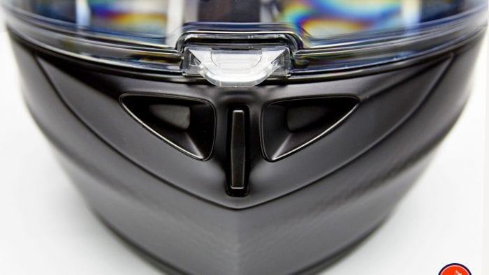 The Klim K1R helmet chinbar vent.
