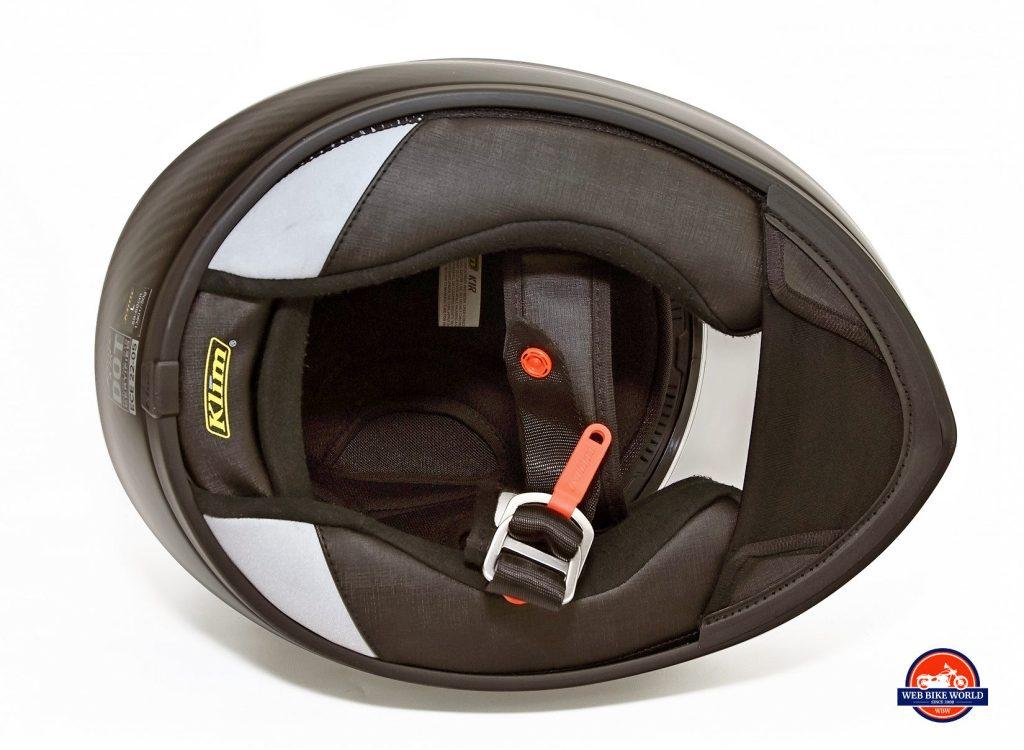 Klim K1R helmet neck roll area.