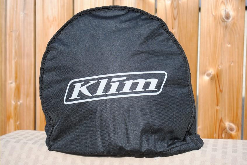 KLIM K1R Raw Karbon Helmet protective fleece helmet bag