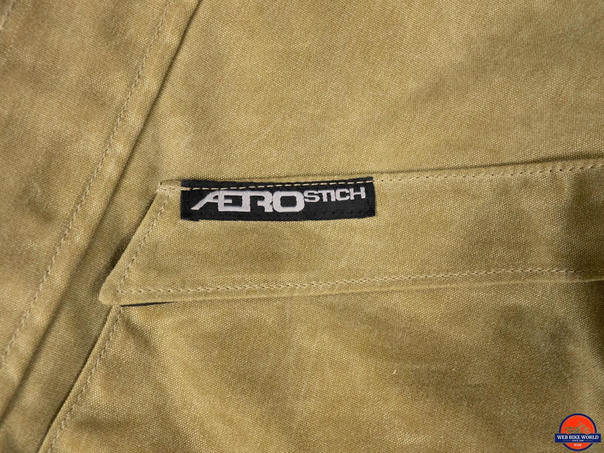 Aerostich Cousin Jeremy Suit stitched logo