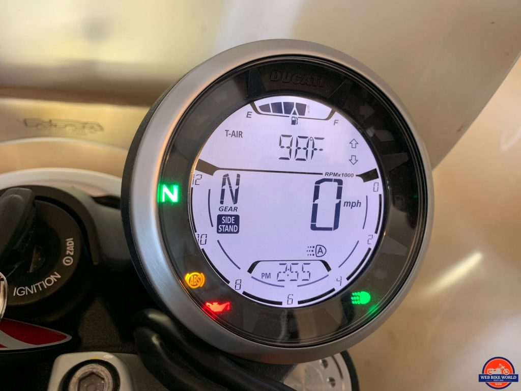 2019 Ducati Scrambler Icon LED dash