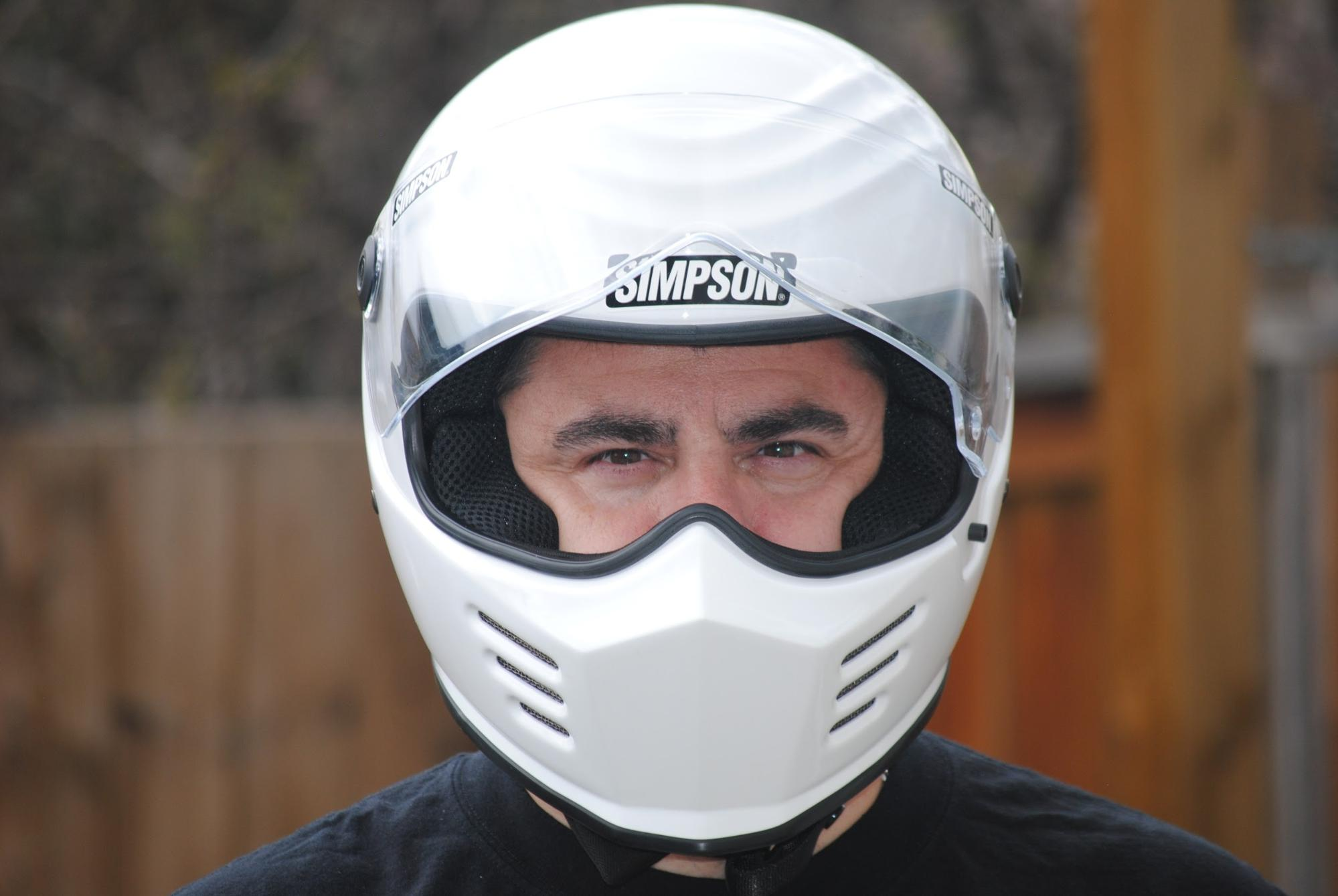 Gerry wearing the Outlaw Bandit.