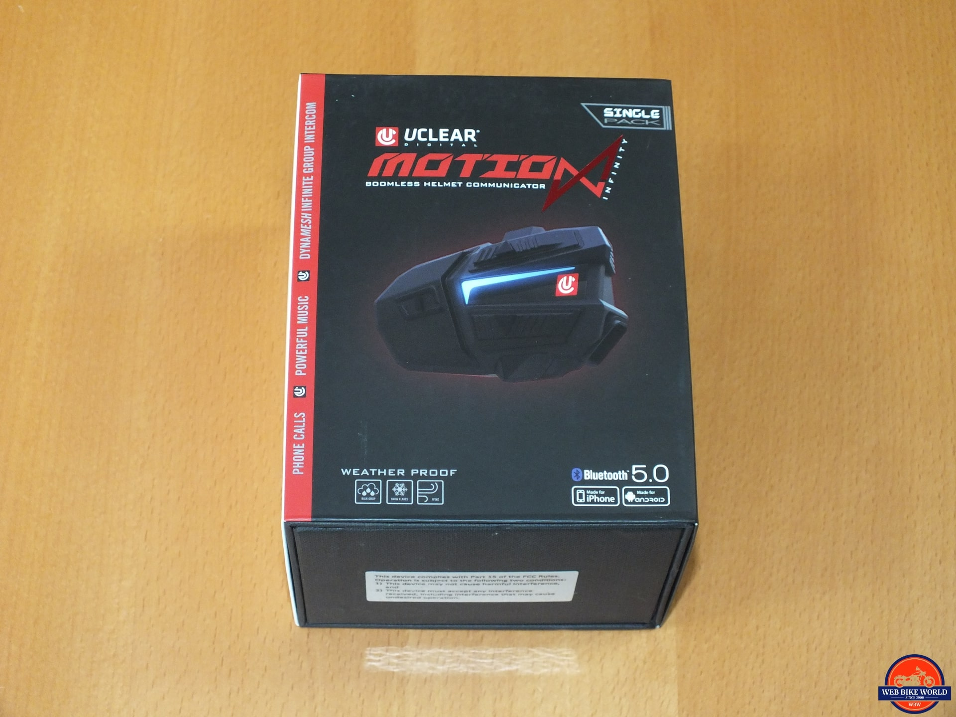 Motion Infinity, Layout, Retail box