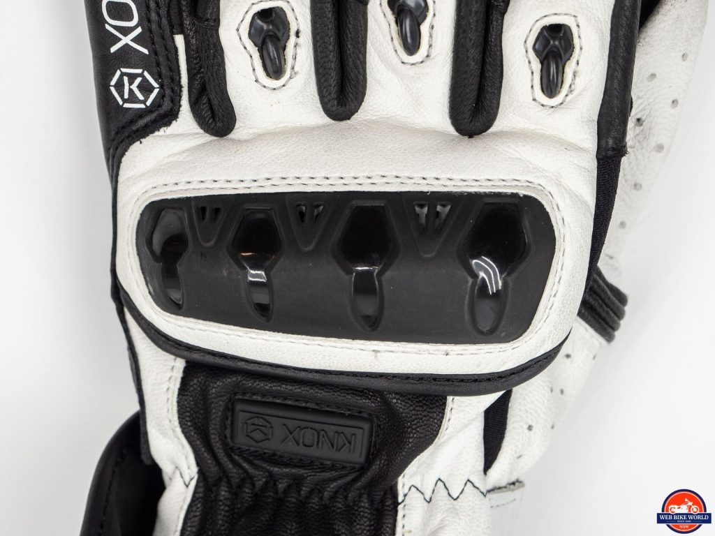 Knox Nexos Gloves knuckle armor closeup
