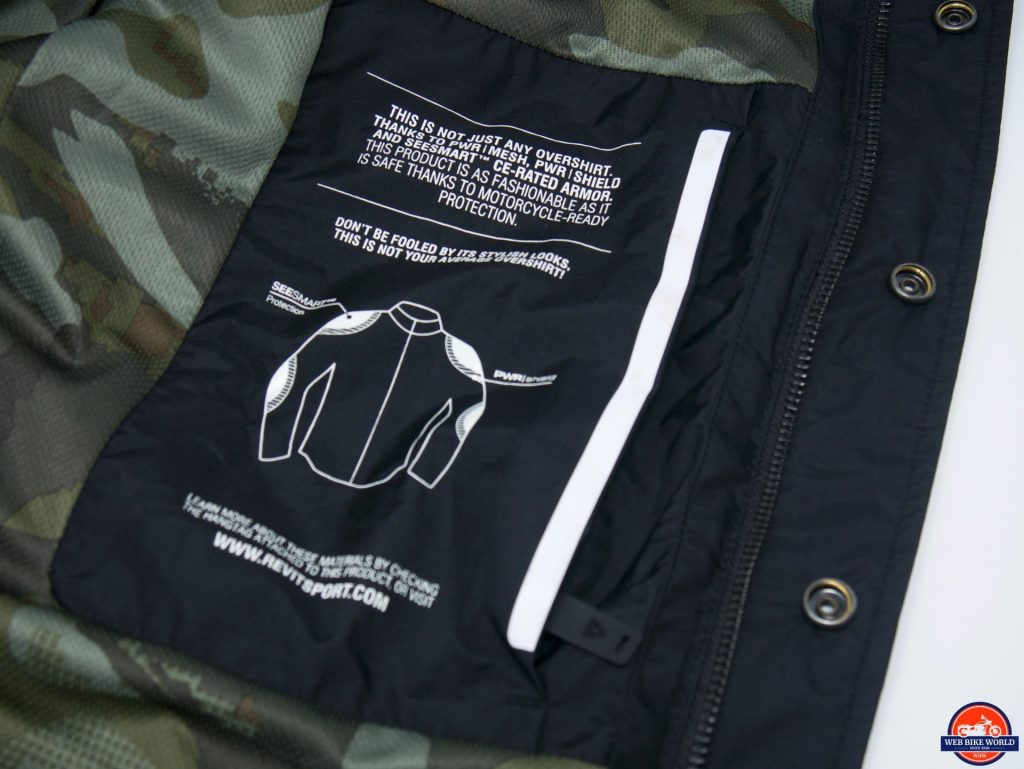 REV'IT! Tracer Air Overshirt PWR Mesh label