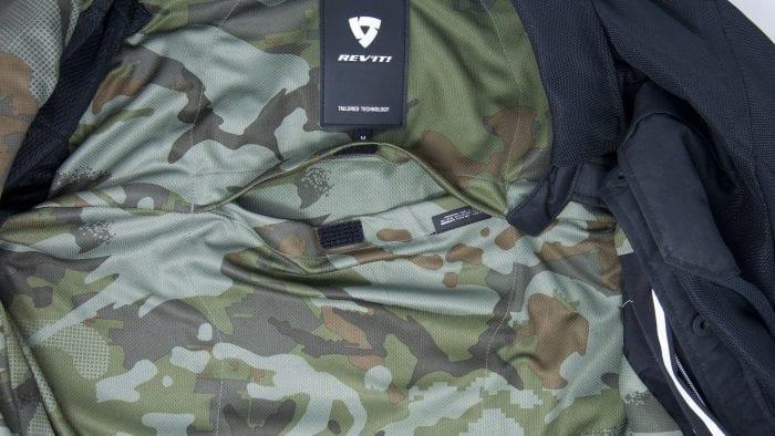 REV'IT! Tracer Air Overshirt interior liner showing back protector pocket