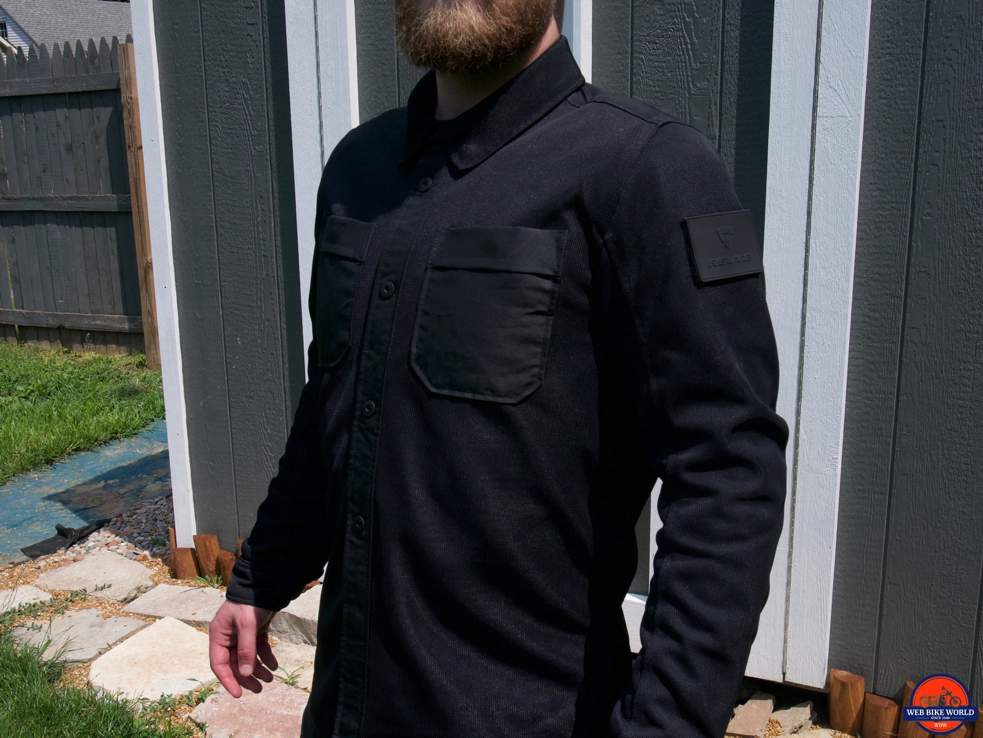 REV'IT! Tracer Air Overshirt on Wade front view