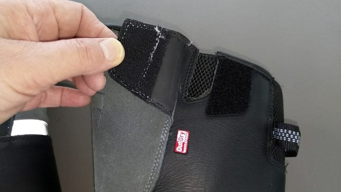 REV'IT! Gravel OutDry Boots top adjuster flap