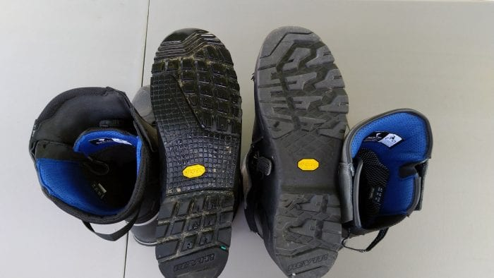 REV'IT! Gravel OutDry Boots sole comparison against the Discovery OutDry