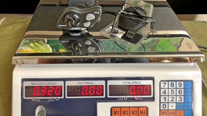 Weighing a Lexin FT4.