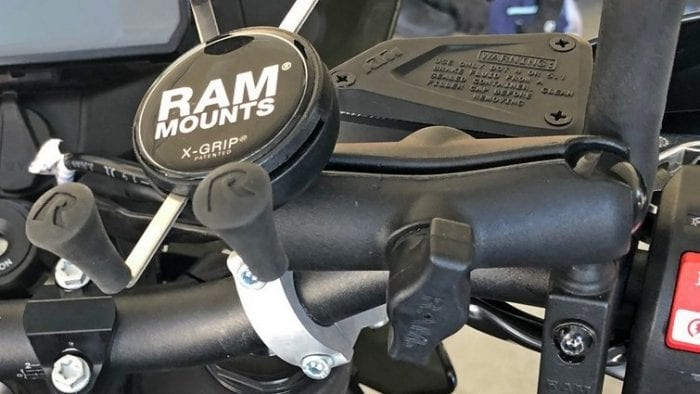 The RAM Mounts X-Grip installed on my KTM 790 Adventure.