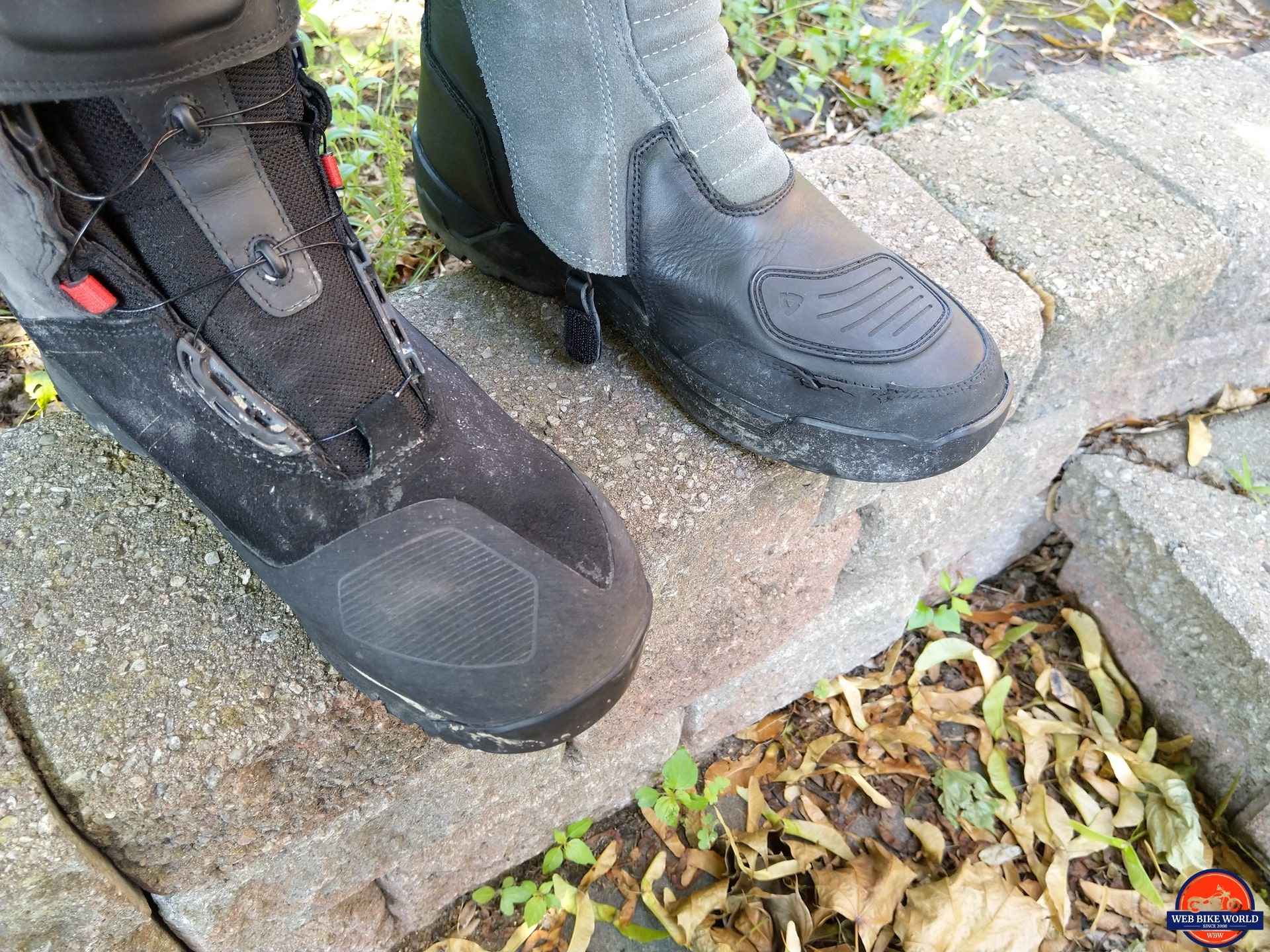 REV'IT! Gravel OutDry Boots rubber seal stitching tear