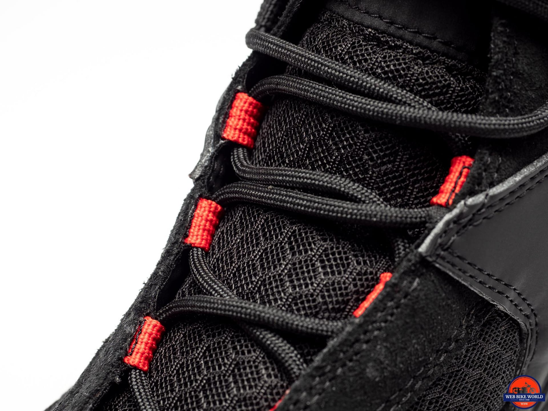 TCX Vibe Air Boots lacing and tongue closeup