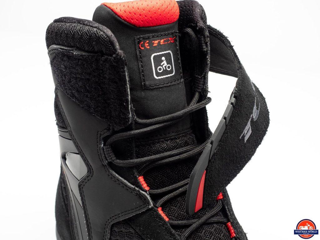 TCX Vibe Air Boots strap and tongue