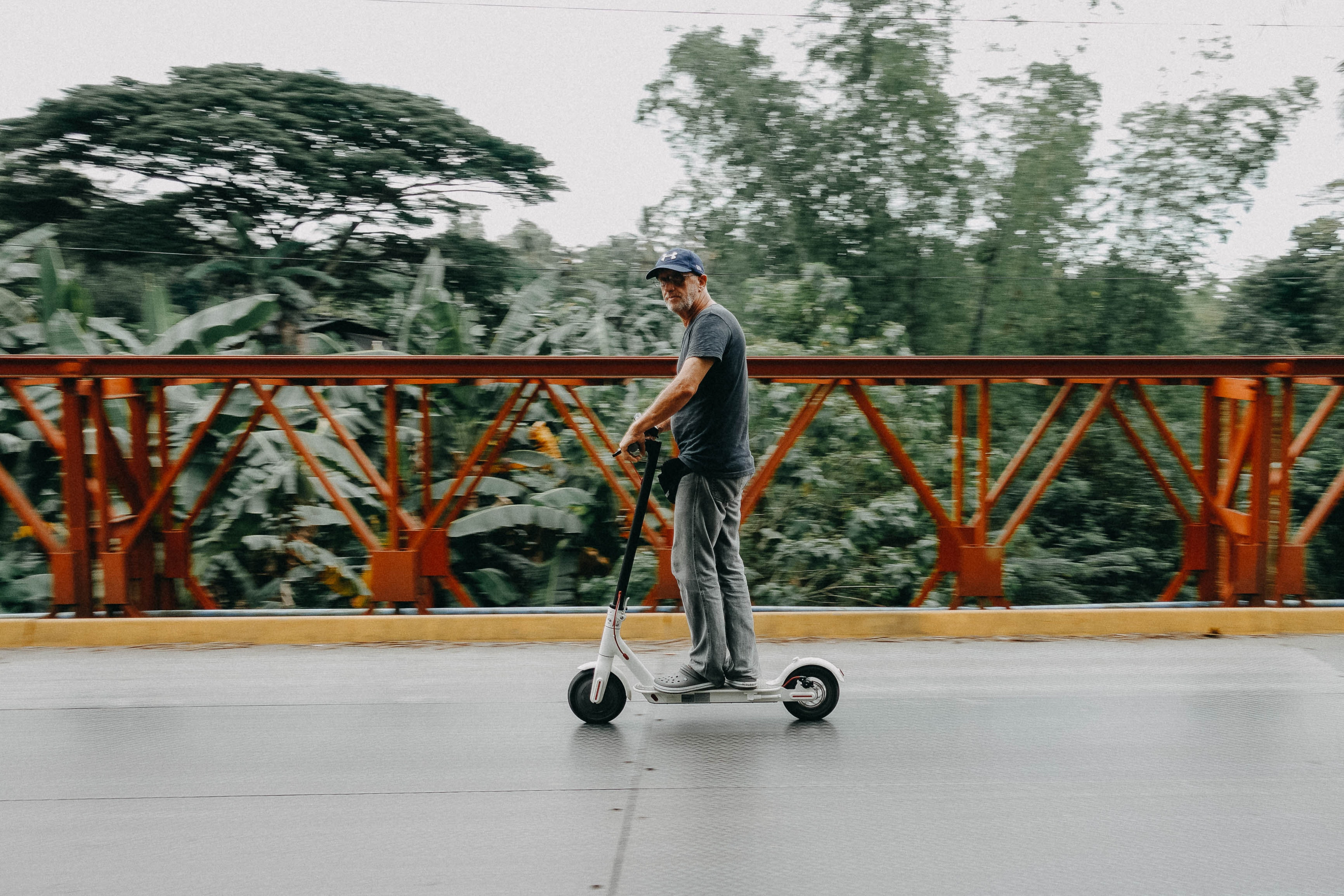 shared electric scooter