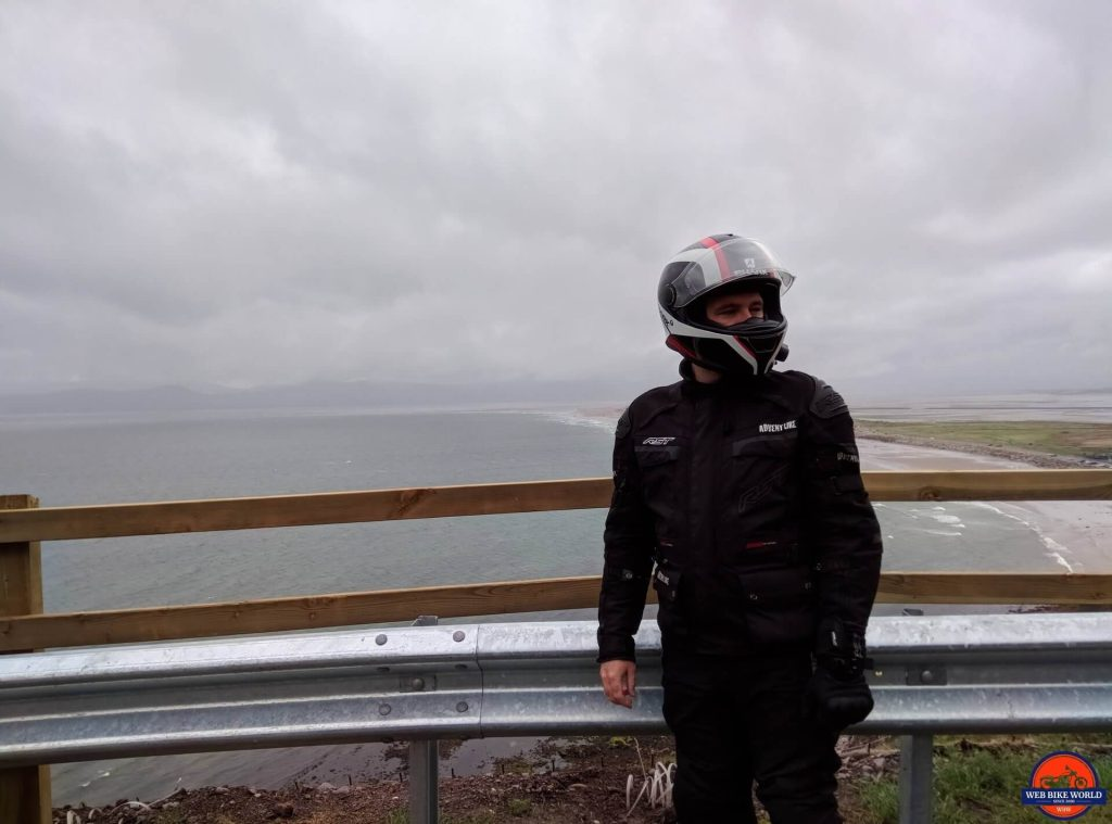 RST Pro Series Adventure 3 Textile Jacket in wet climate