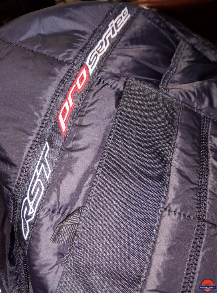 RST Pro Series Adventure 3 Textile Jacket stitching closeup