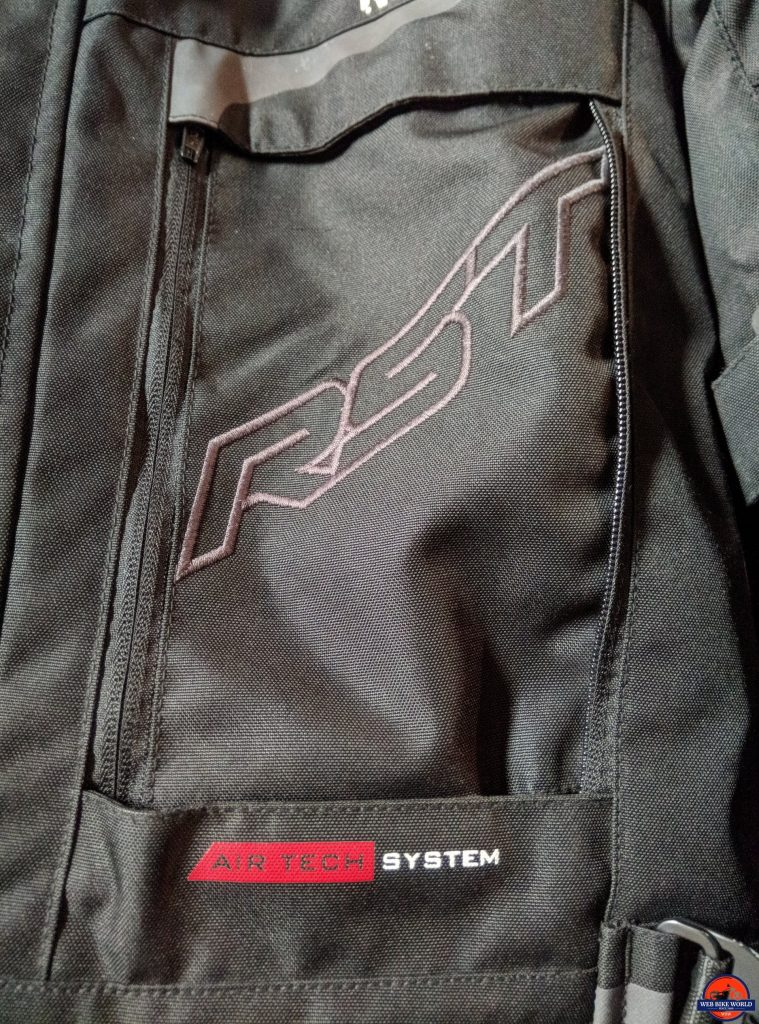 RST Pro Series Adventure 3 Textile Jacket chest vent closed