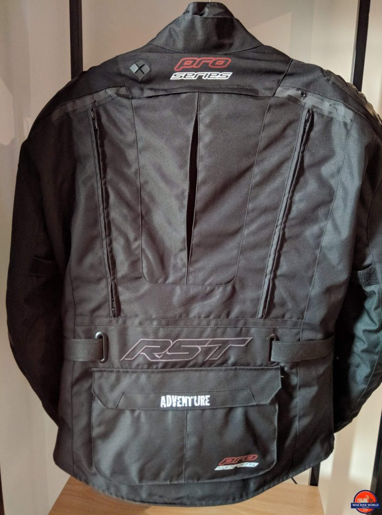 RST Pro Series Adventure 3 Textile Jacket full rear view