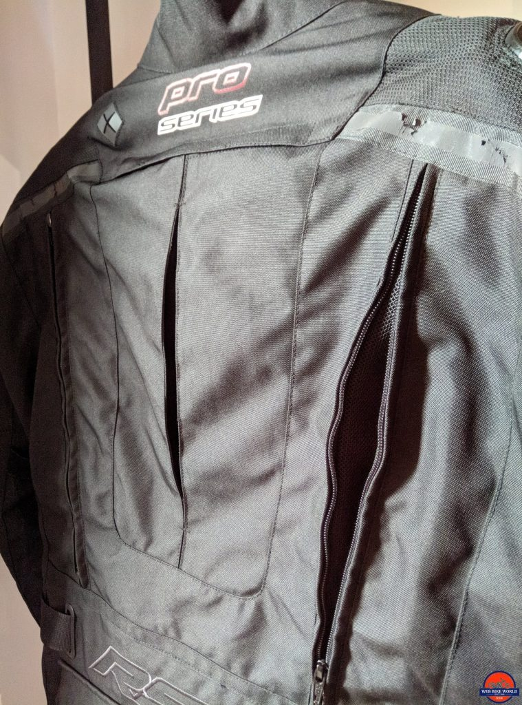 RST Pro Series Adventure 3 Textile Jacket back zippers