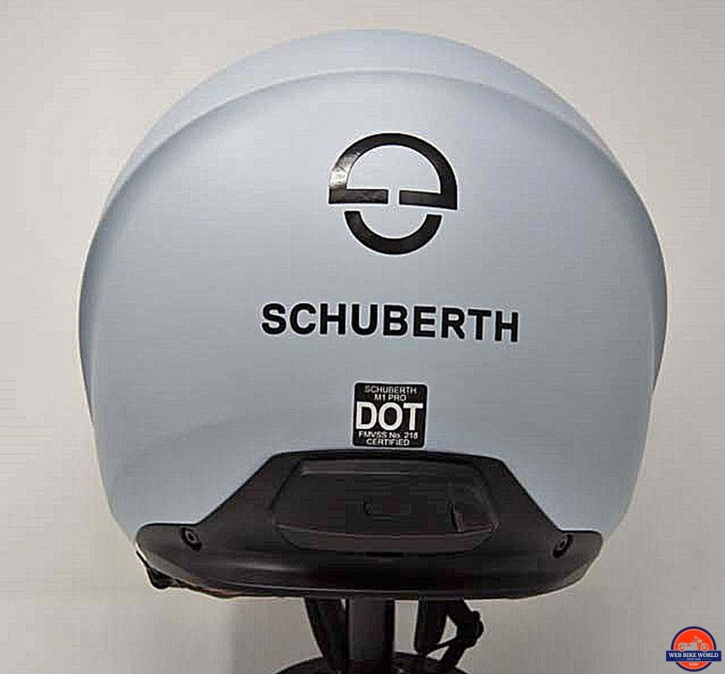Schuberth M1 Pro and Sena SC1M rear view