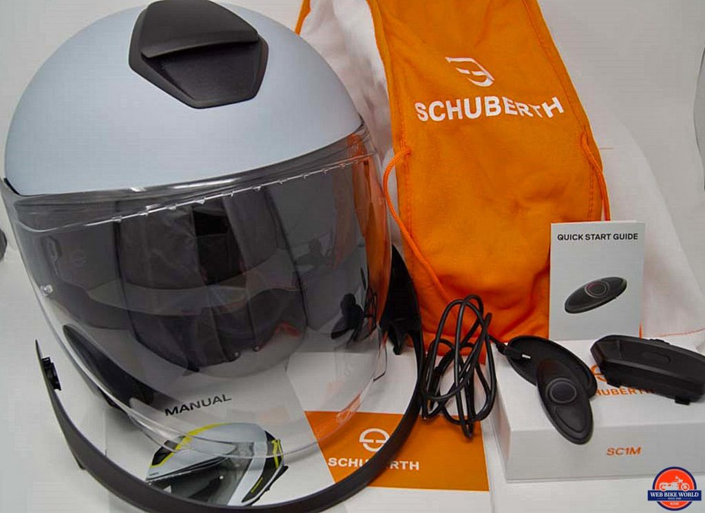 Schuberth M1 Pro and Sena SC1M with all accessories