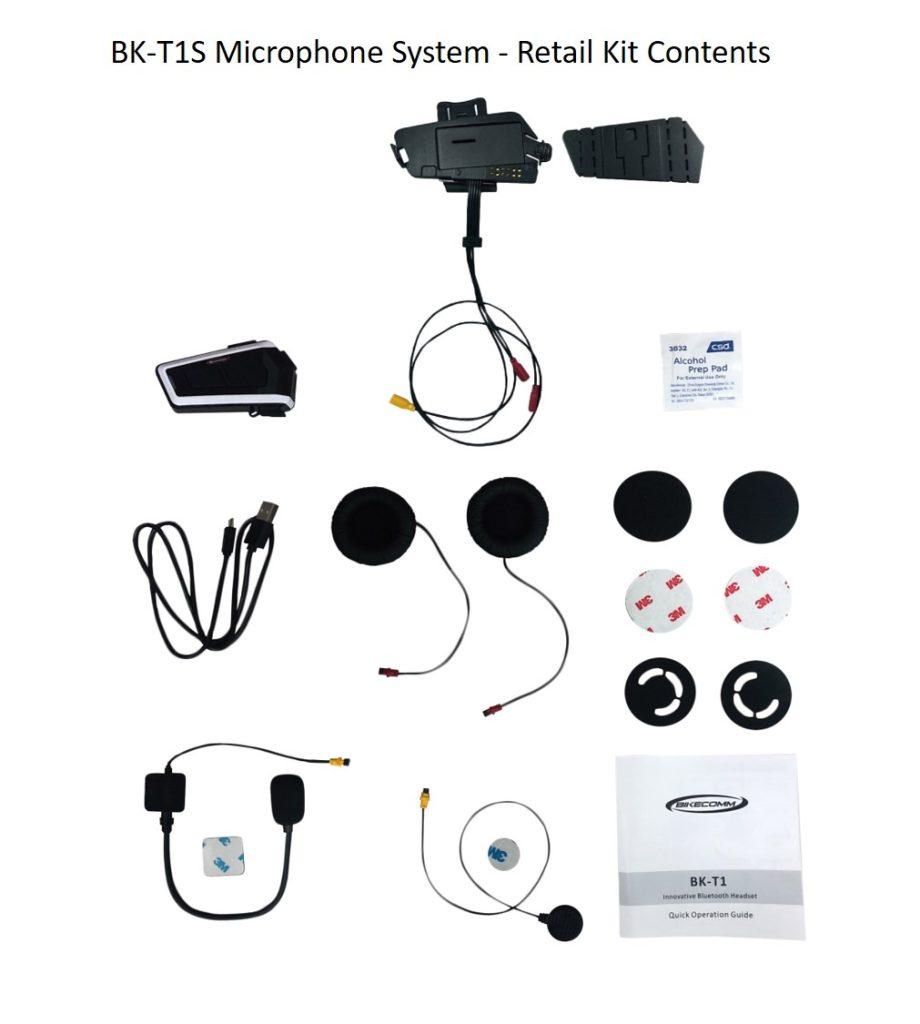 Bikecomm BK-T1 Bluetooth Headset - BK-T1S