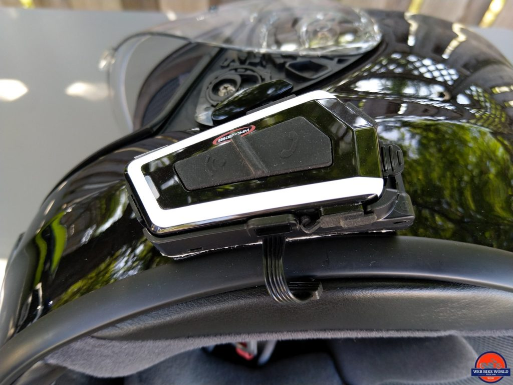 Bikecomm BK-T1 Bluetooth Headset - SHOEI QWEST installation
