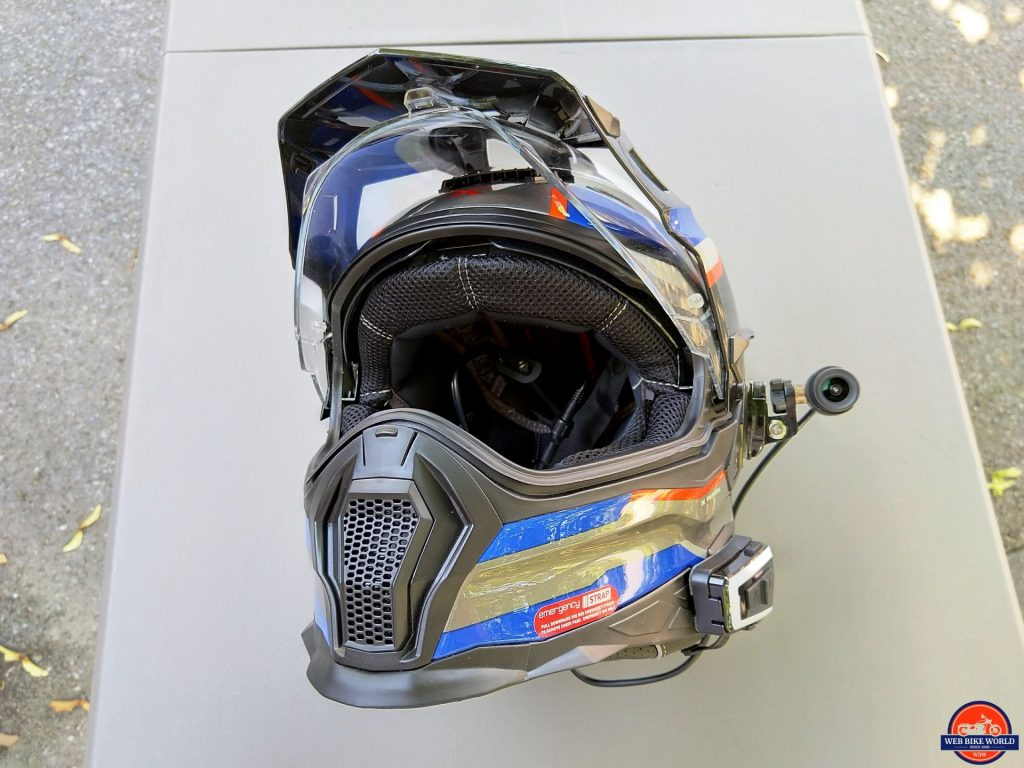 INNOVV C5 Helmet Camera - side-mounted on X-Patrol
