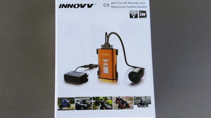 INNOVV C5 Helmet Camera - front of retail box