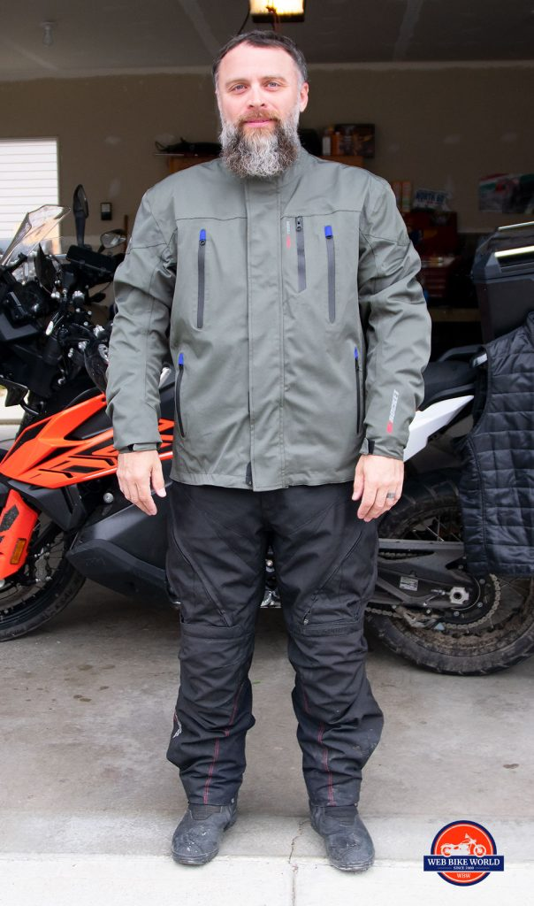 The Joe Rocket Canada Alter Ego 14.0 jacket waterproof outer layer.