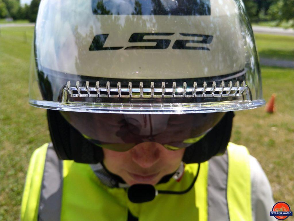 LS2 VERSO Mobile Helmet full-face visor diffuser
