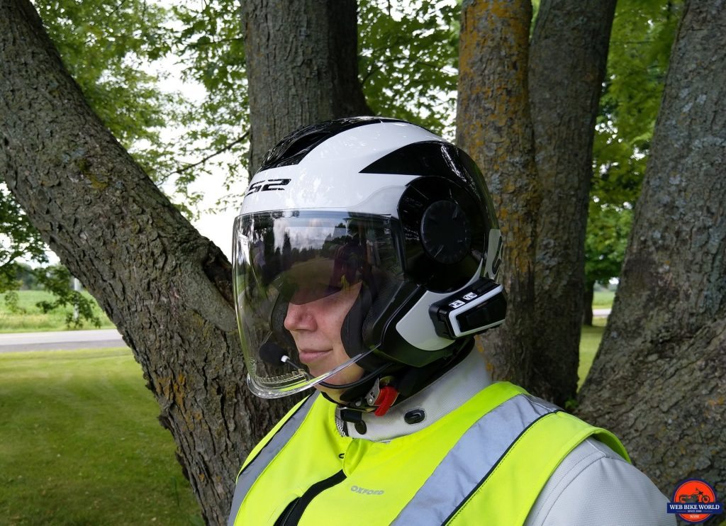 LS2 VERSO Mobile Helmet worn on rider