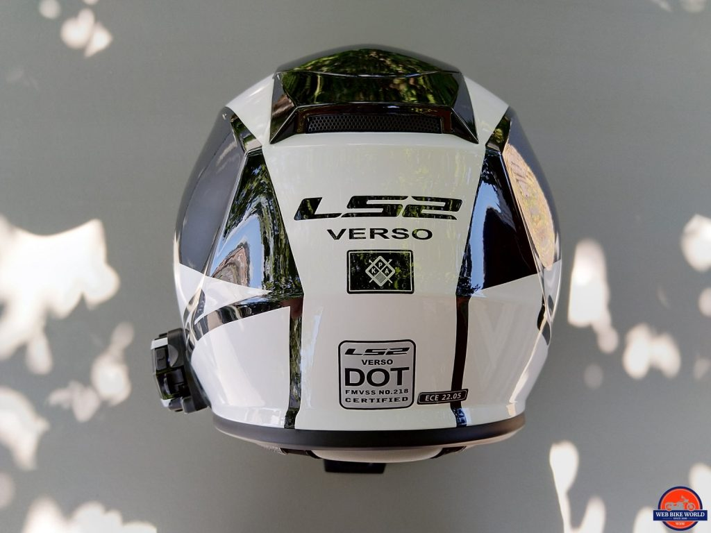 LS2 VERSO Mobile Helmet rear sticker labels
