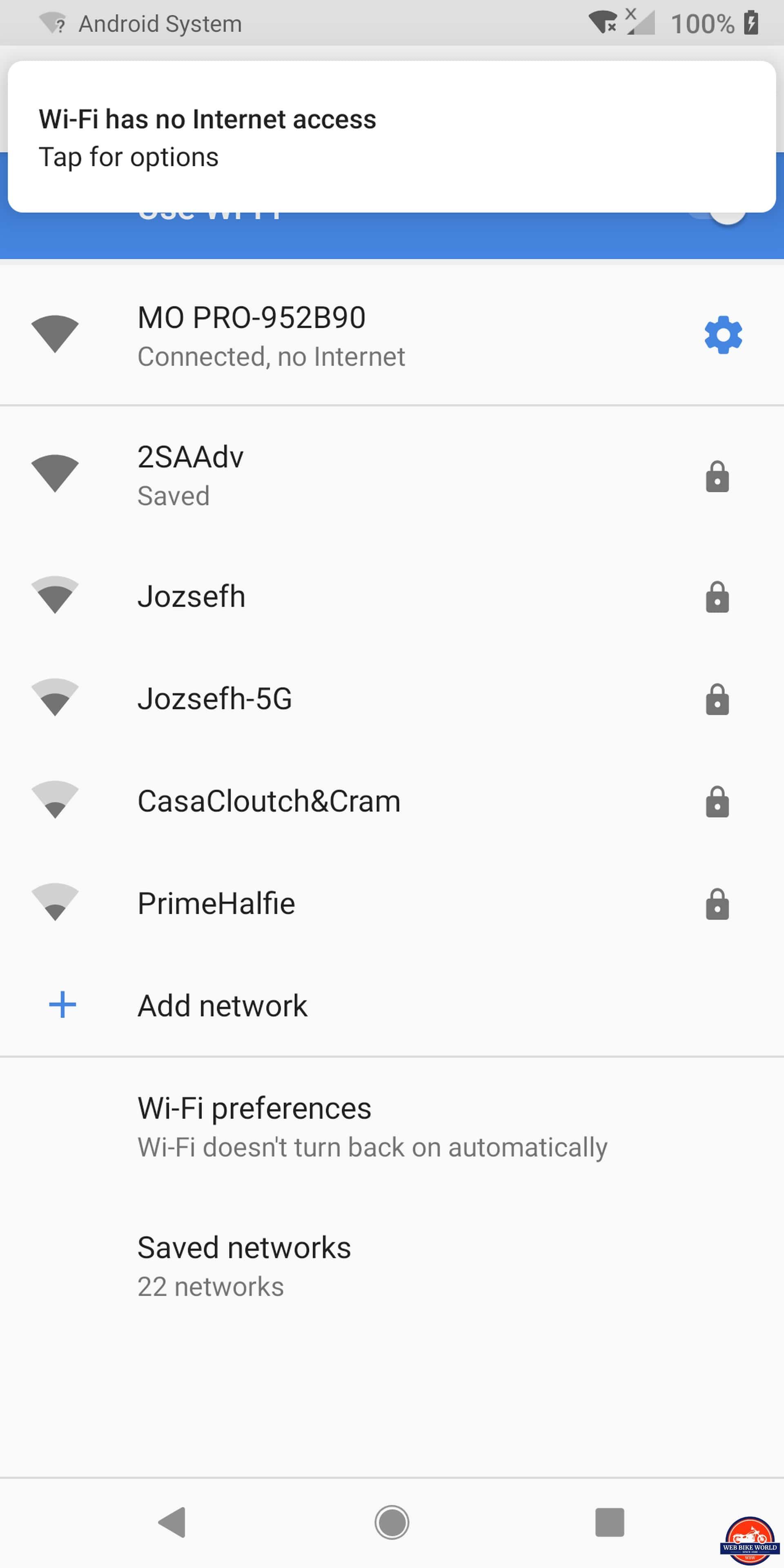 Sena Momentum Pro Helmet - Network ID-Connection Screen
