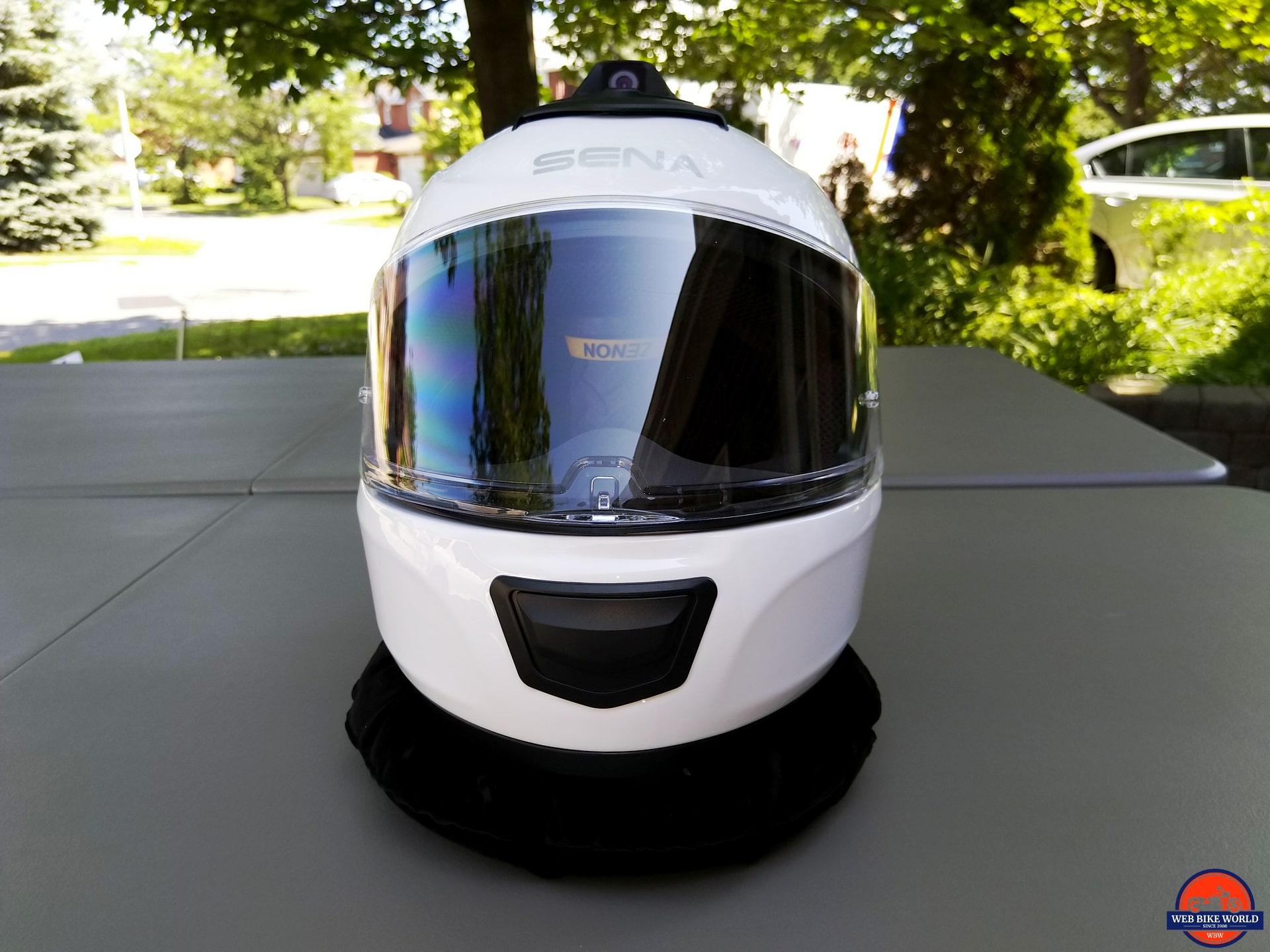 Full Face XS size ECE Bluetooth Helmet Dual Sena Momentum Glossy White