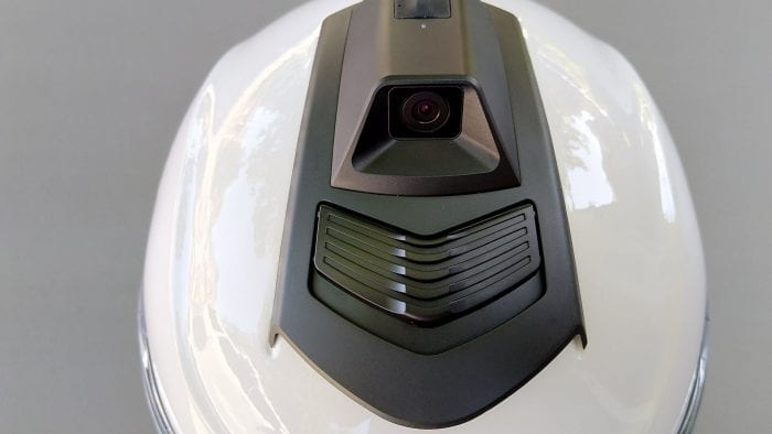 Sena Momentum Pro Camera on top, Quarter High Definition