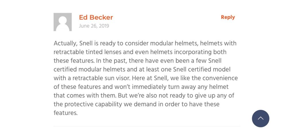 Ed Becker's comments on the Bell SRT Modular review.