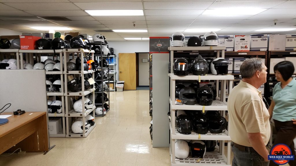 Part of the Archives, where helmets that pass are stored
